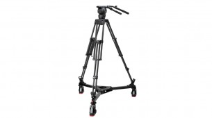 Shotoku SX260 Head on Heavy Duty TTH1002C tripod and TD-73 Studio Dolly